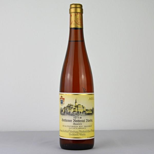 1971 Hochheimer Reichestal Riesling Auslese Fürstl. Isenburg-Birstein'sches Weingut