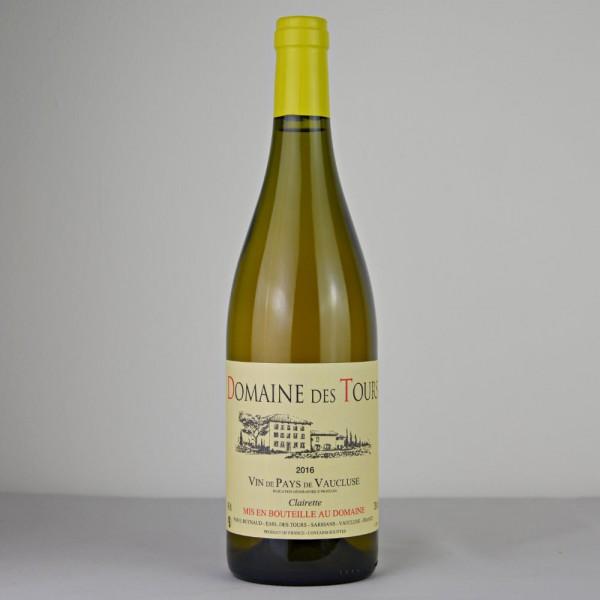 2016 Domaine des Tours Blanc, Clairette, Vin de Pays de Vaucluse IGP