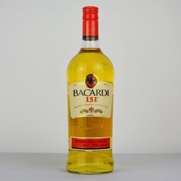 Bacardi 151 Rum, Puerto Rico 1000 ml