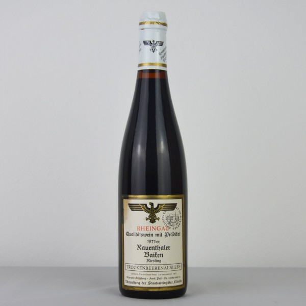 1971 Hessische Staatsweingüter Kloster Eberbach Rauenthaler Baiken Riesling Trockenbeerenauslese