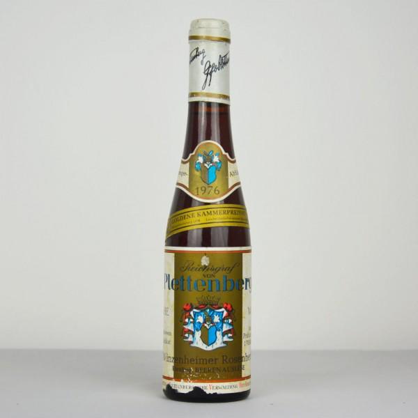 1976 Reichsgraf von Plettenberg Riesling Beerenauslese Winzenheimer Rosenheck