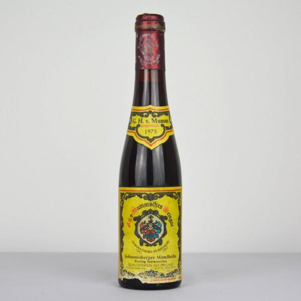 1975 G.H. von Mumm Johannisberger Mittelhölle Riesling Beerenauslese